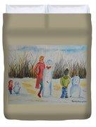 Snowman Competition Duvet Cover
