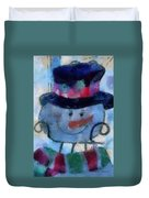 Snowman Photo Art 34 Duvet Cover