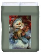 Snowman Photo Art 47 Duvet Cover