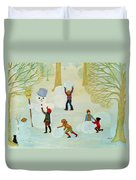 Snowmen Duvet Cover by Ditz
