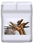 Winter Laundry Day Duvet Cover
