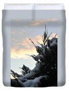 Snowvember Sunrise Duvet Cover