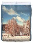 Snowy Aspens  Duvet Cover
