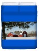 Snowy Barn-0087 Duvet Cover