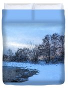 Snowy Beach Impressions Duvet Cover