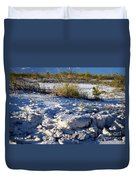 Snowy Beach Duvet Cover
