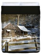 Snowy Cabins Duvet Cover