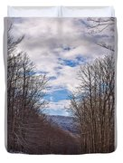 Snowy Country Road Duvet Cover