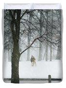 Snowy Deer Duvet Cover