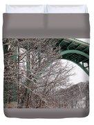 Snowy Drive Duvet Cover
