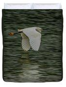 Snowy Egret On Estuary Duvet Cover