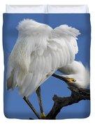 Snowy Egret Photograph Duvet Cover