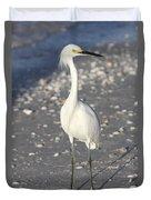Snowy Egret Pose Duvet Cover