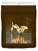 Snowy Egret Wingspan Duvet Cover