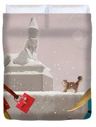 Snowy Evening In The City Duvet Cover