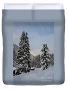 Snowy Fir Trees  Duvet Cover