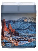 Snowy Fisher Towers Duvet Cover