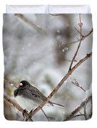 Snowy Grace Cardinals Duvet Cover