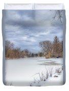 Snowy Lake Duvet Cover