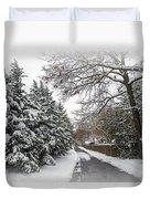 Snowy Lane Duvet Cover