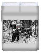 Snowy Mailbox Sc Duvet Cover