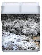 Snowy Mountain Stream V2 Duvet Cover