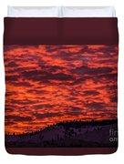 Snowy Mountain Sunset Duvet Cover