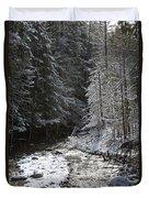 Snowy Oregon Stream Duvet Cover