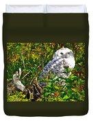 Snowy Owl In Salmonier Nature Park-nl Duvet Cover