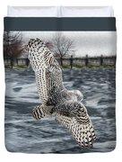 Snowy Owl Wingspan Duvet Cover