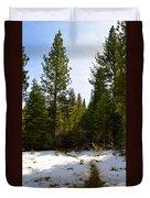 Snowy Path Duvet Cover