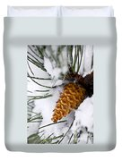 Snowy Pine Cone Duvet Cover