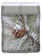 Snowy Pine Duvet Cover