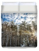 Snowy Pines With Sunflair Duvet Cover