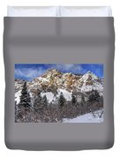 Snowy Ridge Above Bell Canyon - Wasatch Mountains - Utah Duvet Cover