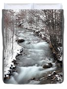 Snowy River At Mt. Hood Duvet Cover