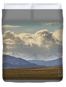 Snowy Rocky Mountains County View Duvet Cover