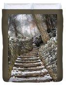 Snowy Steps Duvet Cover