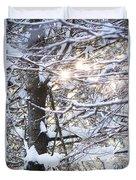 Snowy Sunbursts Duvet Cover