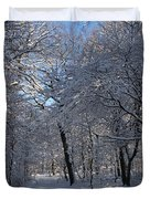 Snowy Trail Duvet Cover