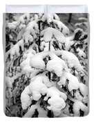 Snowy Tree - Black And White Duvet Cover