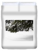 Snowy Tree Branches Duvet Cover