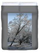 Snowcovered Trees Duvet Cover