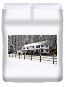 Snowy Valley Green Duvet Cover