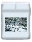 Snowy Wagner's Bridge Duvet Cover