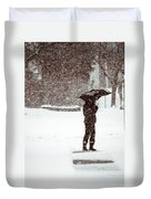 Snowy Walk Duvet Cover
