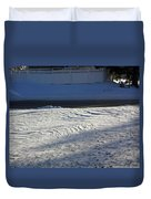 Snowy Waves In January Duvet Cover