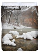 Snowy West Fork Duvet Cover by Peter Coskun