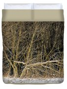 Snowy Winter Forest Duvet Cover