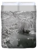 Snowy Wissahickon Creek Duvet Cover by Bill Cannon